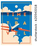 time to travel and summer... | Shutterstock .eps vector #620543318