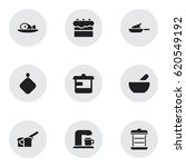 set of 9 editable food icons....