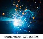 artistic welding sparks light ... | Shutterstock . vector #620551325