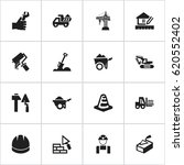 set of 16 editable building...