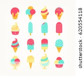 set of delicious ice cream... | Shutterstock .eps vector #620554118
