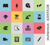 set of 16 editable education... | Shutterstock .eps vector #620555138