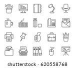 office stuff outline  icons set.... | Shutterstock .eps vector #620558768