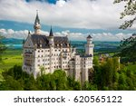 Small photo of Neuschwanstein Castle on the top of the mountain, Fairytale castle in southwest Bavaria, Germany