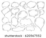 speech or thought bubbles of... | Shutterstock .eps vector #620567552