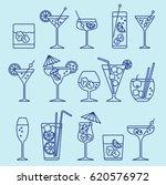 cocktails set   Shutterstock .eps vector #620576972