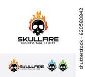 Skull Fire  Vector Logo Template