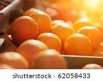 Fresh Organic Oranges On...
