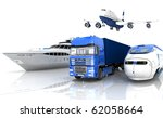 types of transport | Shutterstock . vector #62058664