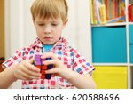 moscow   may 7  2016  boy  with ... | Shutterstock . vector #620588696