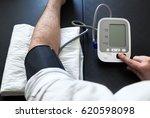 hypertensive patient performing ... | Shutterstock . vector #620598098