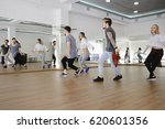 group of young modern dancers... | Shutterstock . vector #620601356