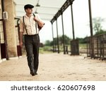 young man walking at the  old... | Shutterstock . vector #620607698