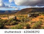 safari truck and wildlife rhino ... | Shutterstock . vector #620608292