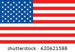 usa flag. national united state ... | Shutterstock .eps vector #620621588