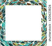 frame with tringles in .... | Shutterstock . vector #620623826