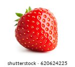 strawberry isolated on white... | Shutterstock . vector #620624225