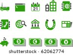 vector icons pack   green... | Shutterstock .eps vector #62062774