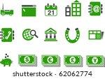 vector icons pack   green... | Shutterstock .eps vector #62062774