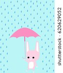 cute rabbit walking with... | Shutterstock .eps vector #620629052