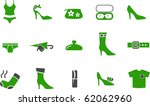vector icons pack   green... | Shutterstock .eps vector #62062960