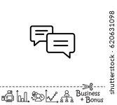web line icon. dialog