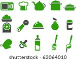 vector icons pack   green... | Shutterstock .eps vector #62064010