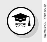 mortar board or graduation cap... | Shutterstock .eps vector #620642252