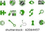 vector icons pack   green... | Shutterstock .eps vector #62064457