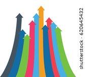 infographic vector arrow.... | Shutterstock .eps vector #620645432