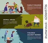 social aggression horizontal... | Shutterstock .eps vector #620645756