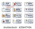 sketch alcohol drinks labels... | Shutterstock .eps vector #620647436