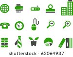 vector icons pack   green... | Shutterstock .eps vector #62064937