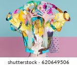 color art high fashion portrait ... | Shutterstock . vector #620649506
