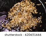 roasting onions and carrots in...   Shutterstock . vector #620651666
