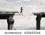 she is not afraid to risk .... | Shutterstock . vector #620653166