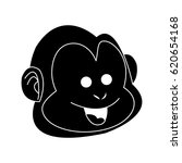 happy smiling monkey cartoon...   Shutterstock .eps vector #620654168