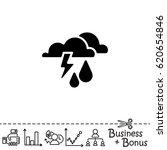web icon. haze  storm   clouds  ...