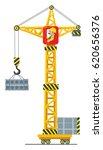 Construction Crane Lifts The...
