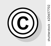 copyright sign illustration.... | Shutterstock .eps vector #620657702