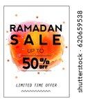 ramadan sale flyer banner...   Shutterstock .eps vector #620659538