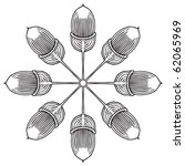 oak acorn | Shutterstock .eps vector #62065969