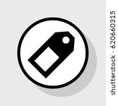 price tag sign. vector. flat... | Shutterstock .eps vector #620660315