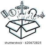unbox surprise icon illustration | Shutterstock .eps vector #620672825