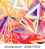 watercolor abstract colorful... | Shutterstock . vector #620675522