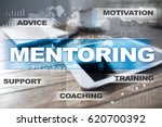 Small photo of Mentoring. Education concept. E-Learning. Success.