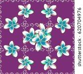 hand drawn seamless flower... | Shutterstock .eps vector #620704976