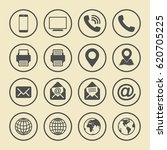 business card icon set. web...   Shutterstock .eps vector #620705225