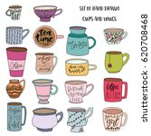 set of hand drawn colorful... | Shutterstock .eps vector #620708468