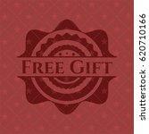 free gift red emblem. vintage.